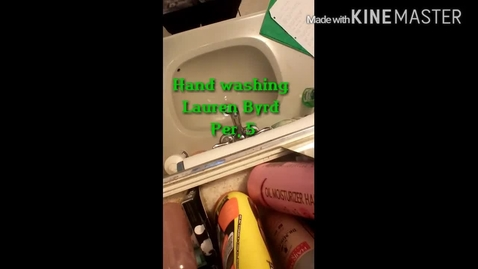 Thumbnail for entry Hand washing Video By Lauren Byrd