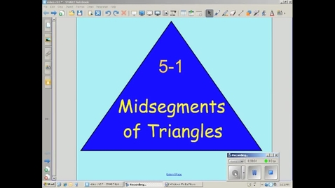 Thumbnail for entry Triangle Midsegment Theorem