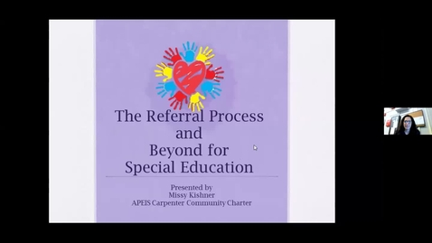 Thumbnail for entry Special Education Process-APEIS, Mrs. Kishner Parent Ed.