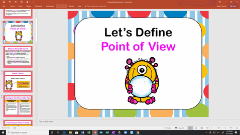 Thumbnail for entry Point of View Power Point