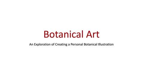 Thumbnail for entry Art Project Botanical Illustration Part 1