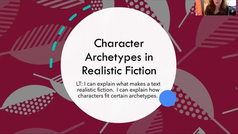 Thumbnail for entry Character Archetypes in Realistic Fiction