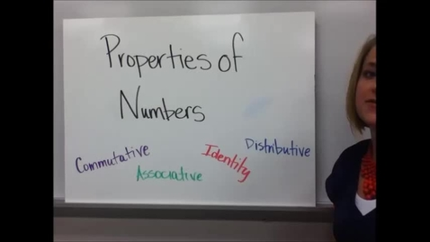 Thumbnail for entry 1-2 Properties of Numbers