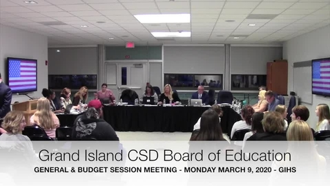 Thumbnail for entry Grand Island BOE Meeting 3-9-2020