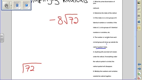 Thumbnail for entry Simplifying radicals example 9