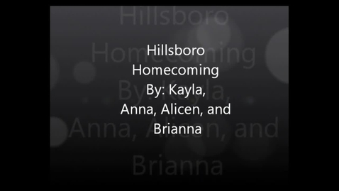 Thumbnail for entry Hillsboro Homecoming