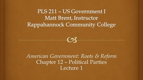 Thumbnail for entry Chapter 12 - Lecture 1