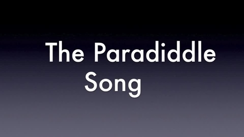 Thumbnail for entry The Paradiddle Song