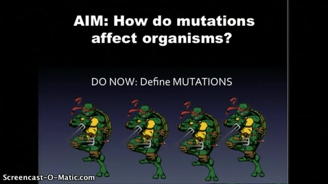 Thumbnail for entry Unit 8 page 5 Mutations