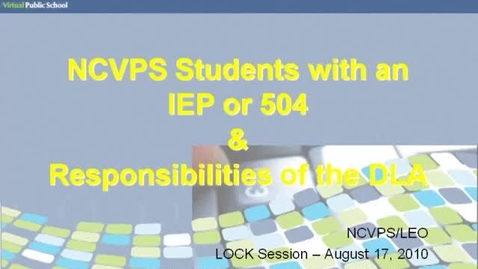 Thumbnail for entry IEP & 504 Responsibilities