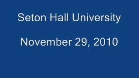 Thumbnail for entry Seton Hall Univeristy - Student Interviews
