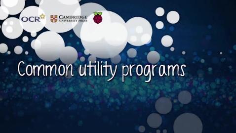 Thumbnail for entry Common utility programs - Part B