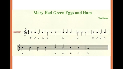 Thumbnail for entry Mary Had Green Eggs and Ham