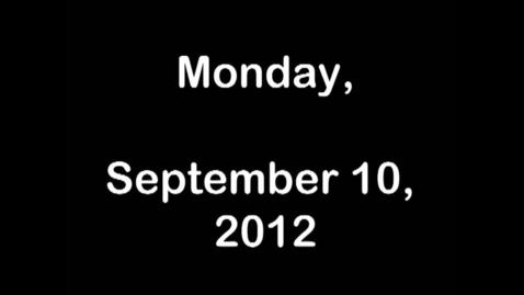 Thumbnail for entry Monday, September 10, 2012