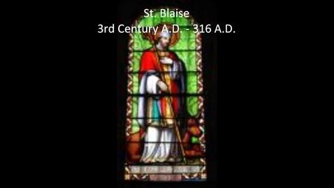 Thumbnail for entry St. Blaise Info & Novena