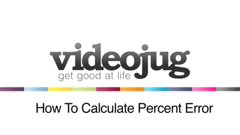 Thumbnail for entry percent error