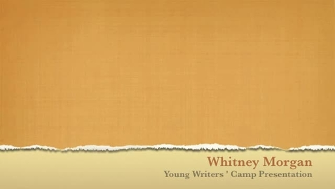 Thumbnail for entry Young Writers' Camp Final Design Presentation