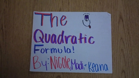 Thumbnail for entry Quadratic Equation Review