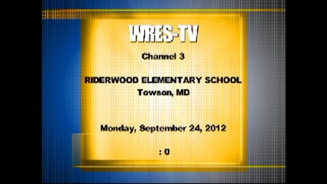 Thumbnail for entry October 1 2012 WRES morning annoucemnts