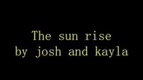 Thumbnail for entry The Sunrise