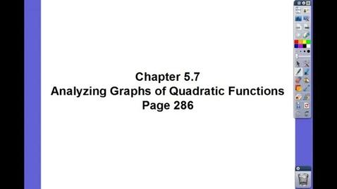 Thumbnail for entry Algebra II Ch 5.7