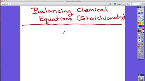 Thumbnail for entry Balancing Chemical Equations (Stoichiometry) - Lesson