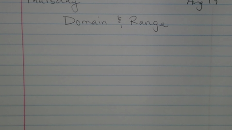 Thumbnail for entry Domain and Range