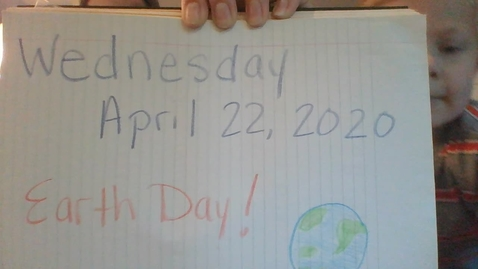 Thumbnail for entry Earth Day Announcements with Mrs. Swinder