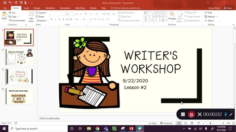 Thumbnail for entry Writing Workshop Sept 22