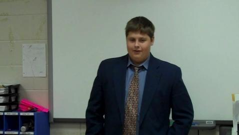 Thumbnail for entry Final Persuasive Speech for Mr. Gilbert's speech class -- Jock Owens -- Spring 2012