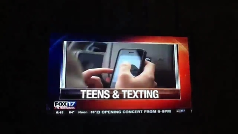 Thumbnail for entry Greenbrier high for texting and teens story