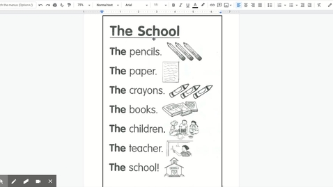 Thumbnail for entry The School Poem doc - Google Docs
