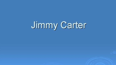 Thumbnail for entry Jimmy Carter Habitat for Humanity