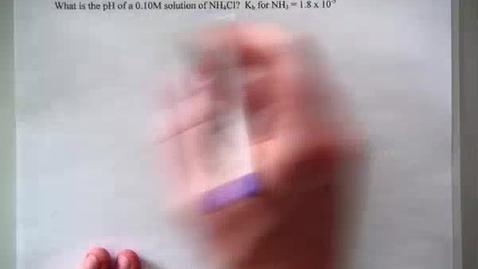 Thumbnail for entry (7) pH of ammonium chloride