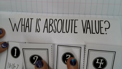 Thumbnail for entry Solving Absolute Value Equations