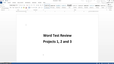 Thumbnail for entry Word Test Review 3