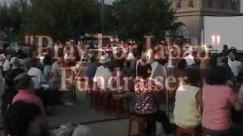 Thumbnail for entry Pray for Japan fundraiser