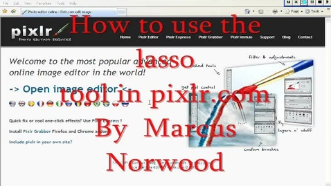 Thumbnail for entry How to use the lasso tool in Pixlr Photo Editor