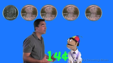 Thumbnail for entry Counting Coins | pennies & dimes | My Growing Brain
