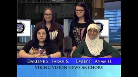 Thumbnail for entry Viking Vision News Wed 1-20-2016
