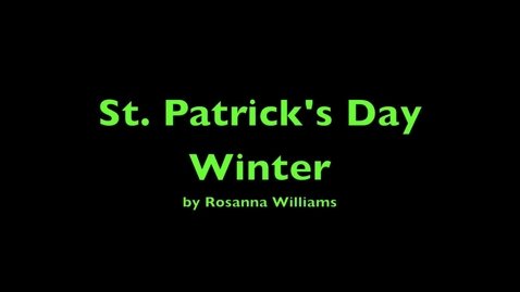 Thumbnail for entry st. patrick's day winter