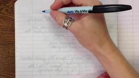 Thumbnail for entry Obj11B Algebra and Quadrilaterals