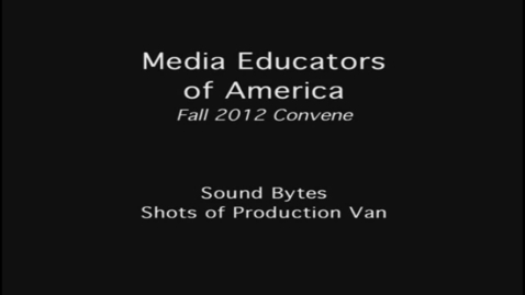 Thumbnail for entry 2012 MEOA Fall Convention: Sound Bytes
