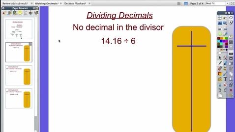 Thumbnail for entry Dividing Decimals