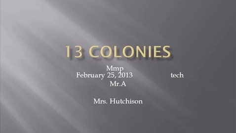 Thumbnail for entry mp 13 colonies