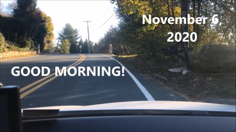 Thumbnail for entry WHMS Morning News       Nov 6, 2020