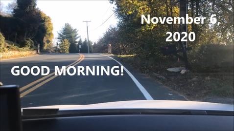 Thumbnail for entry WHMS Morning News       Nov 6, 2020