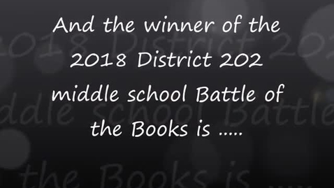 Thumbnail for entry Battle of the Books district final, 02.22.2018