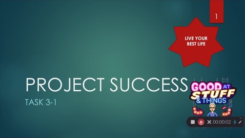 Thumbnail for entry Lesson 3.1 Project Success-Relationships
