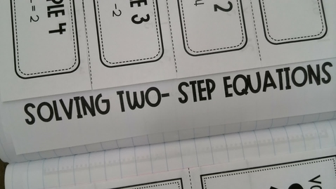 Thumbnail for entry Solving 2-step Equations